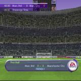 FIFA 2001 PlayStation Half time is one of the few times the stadium is on view