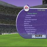 FIFA 2001: Major League Soccer PlayStation When the game is paused, here it's at half time but it can be during a match, the player can change the team's tactics