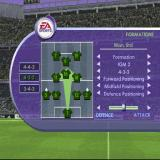 FIFA 2001 PlayStation Changing the way the team plays. Each of the options in the list can be changed via the left/right controls