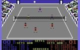 International Team Sports Commodore 64 Return the ball.