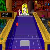 Shufflepuck Cafe Sharp X68000 Bejin is a massive cheater, when serving she raises her hand and then teleports the puck at high speed into one of the corners. Shame on you scantily-clad psychic princess!