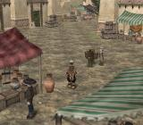 Suikoden III PlayStation 2 Caleria, a bustling city with clear Middle Eastern overtones