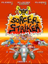Sorcer Striker Arcade Title screen