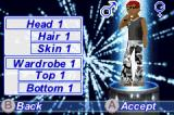American Idol Game Boy Advance Create your character