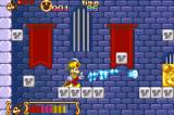 Disney's Magical Quest Starring Mickey & Minnie Game Boy Advance In Wizard Battle, you must defeat the flying torches with your magical powers.  Your powers are limited, so see how many you can defeat before running out of power or being killed
