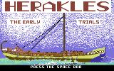 Herakles: The Early Trials Commodore 64 Title Screen.