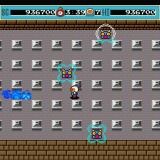 Bomberman Sharp X68000 Round 7 boss is Spidfire, who periodically generates a barrier around itself, which protects it from explosions