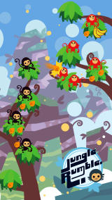 Jungle Rumble: Freedom, Happiness, and Bananas iPad A game in progress