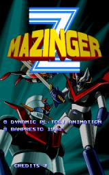 Mazinger Z  Arcade Title screen