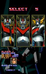 Mazinger Z  Arcade Select Mecha