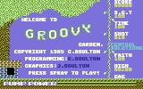 Groovy Garden Commodore 64 Title Screen.