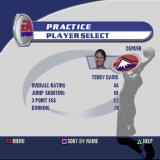 NBA Live 2002 PlayStation Starting a practice session. This is the player selection screen.