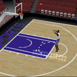 NBA Live 2002 PlayStation A practice session trying a jump shot. 