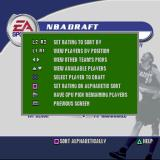 NBA Live 2002 PlayStation The NBA Draft. The player can select players or have the game do it for them. pressing START brings up this menu of additional options