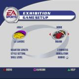 NBA Live 2002 PlayStation Starting an exhibition match. The teams can be manually or randomly selected