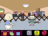 Rugrats Adventure Game Windows So the game begins. The icons at the bottom of the screen only appear when the mouse cursor strays down there. Most of the time the bottom of the screen is a black bar