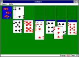Microsoft Windows 3.1 (included games) Windows 3.x Solitaire: Playing in Vegas mode.