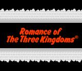 Romance of the Three Kingdoms NES Title screen