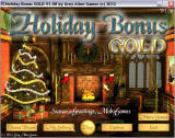 Holiday Bonus GOLD Windows Title screen and main menu (Windowed)