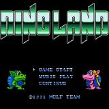 Dino Land Sharp X68000 Title screen