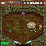 Dino Land Sharp X68000 Boss stage where the kidnapped girlfriend is being held