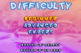 Tiny Toon Adventures: Wacky Stackers Game Boy Advance Survival mode has these three standard difficulty levels