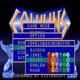 Columns Sharp X68000 Options screen, there's 4 columns & background styles