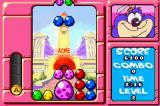 "Tiny Toon Adventures: Wacky Stackers Game Boy Advance These large eggs are made with 4 small eggs of the same color set up into a square.  Breaking a large egg gets you an ""A"" on the left which can be used to clear a screen."