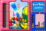 "Tiny Toon Adventures: Wacky Stackers Game Boy Advance Using your ""A"" pieces to clear your board of all eggs by washing them away"