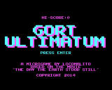 Gort Ultimatum Windows Title screen