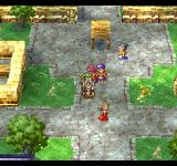Dragon Quest IV: Michibikareshi Monotachi PlayStation A high-level party strolling through a central square of one of the bigger towns