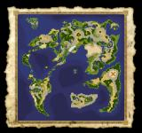 Dragon Quest IV: Michibikareshi Monotachi PlayStation A very helpful zoomed-out world map