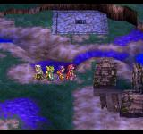 Dragon Quest IV: Michibikareshi Monotachi PlayStation Poison fields in a ruined village