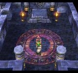 Dragon Quest IV: Michibikareshi Monotachi PlayStation A very mysterious place with a flashing magical symbol