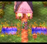 Dragon Quest IV: Michibikareshi Monotachi PlayStation Sunset, flowers, cozy secluded house... serene and slightly sad feeling