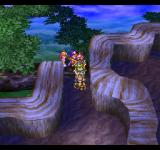 Dragon Quest IV: Michibikareshi Monotachi PlayStation A path from the secluded elf village, up a tree!