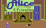 The Further Adventures of Alice in Videoland Commodore 64 Title Screen.