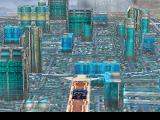 Final Fantasy VIII PlayStation Driving a car trough the gigantic city of Esthar!