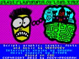 Deadly Labyrinth of Lord Xyrx ZX Spectrum Title screen