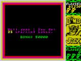 Bomb Jack ZX Spectrum Level bonus