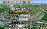 IndyCar Racing DOS The Indianapolis track, only available separately.