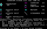 Czorian Siege PC Booter The help screen (CGA)