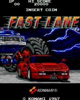 Fast Lane Arcade Title Screen.