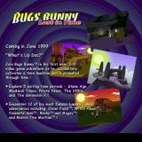 Bugs Bunny: Lost in Time PlayStation This screen is displayed at the end of the demo version of the game, it gives the expected release date and a description of the final game