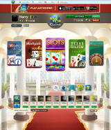 Big Fish Casino Browser In the lobby where you can select a game (photos and names blurred for privacy)