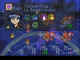 Lunar: Silver Star Story - Complete PlayStation Mia's magic menu during a mini-boss battle in a very mystical place