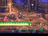 Lunar: Silver Star Story Complete PlayStation Kyle has some powerful sword attacks at his disposal. Here he hits hard some monsters in a mine dungeon