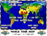 Cruis'n World Arcade World Tour Map.
