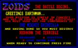 Zoids Amstrad CPC Title Screen.