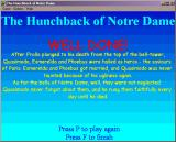 The Hunchback of Notre Dame Windows 3.x The victory screen.